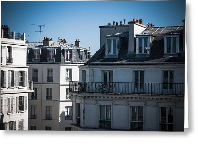 Parisian Rooftops In The Morning Greeting Card