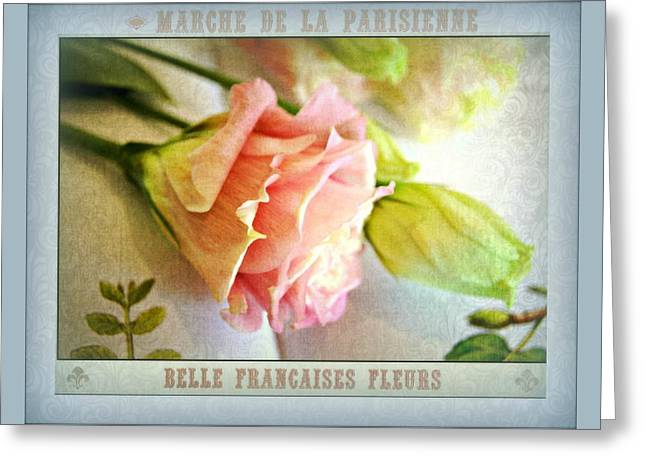 Parisienne Market Greeting Card by Kathy Bucari