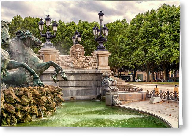 Park And Fountains Greeting Card