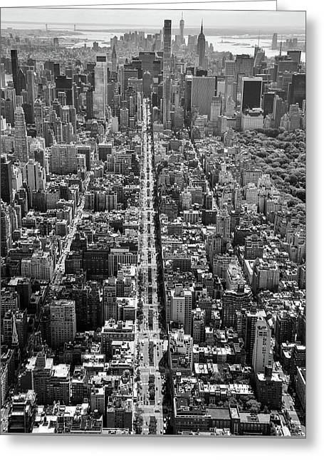 Greeting Card featuring the photograph Park Avenue Aerial by Rand