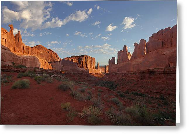 Park Avenue Arches National Park Greeting Card