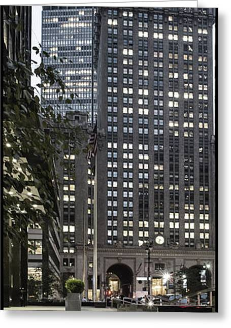 Greeting Card featuring the photograph Park Avenue Met Life Nyc by Juergen Held
