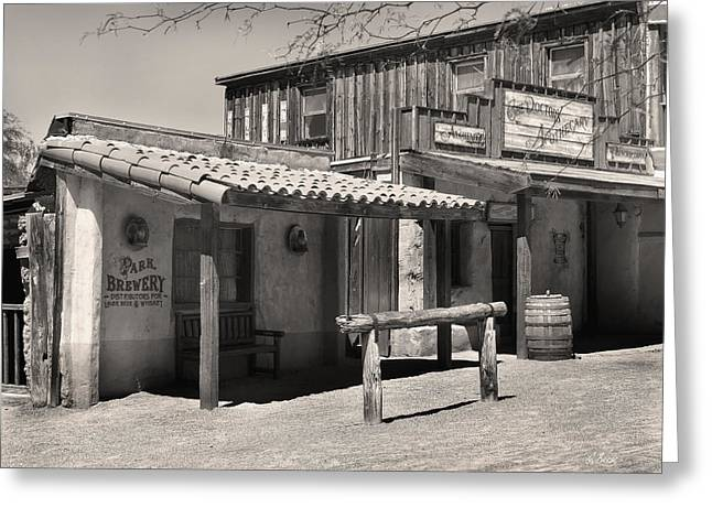 Park Brewery Old Tucson Greeting Card by Gordon Beck
