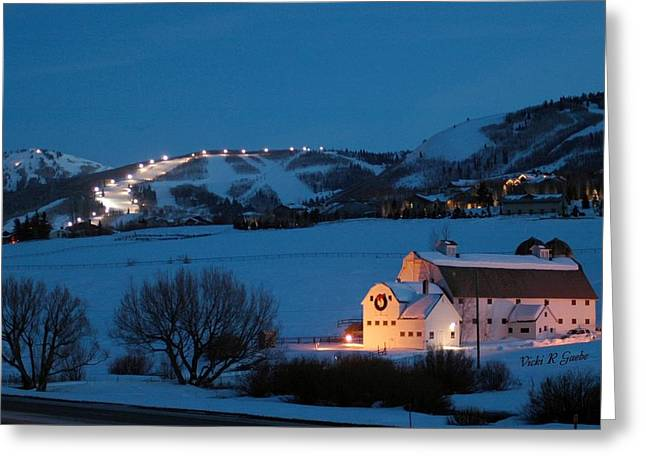 Park City Mcpolin Barn Greeting Card by Vicki Gaebe