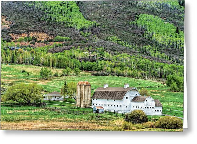 Park City Utah Barn Greeting Card