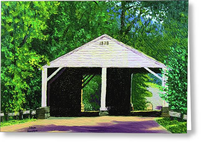 Park Covered Bridge Greeting Card