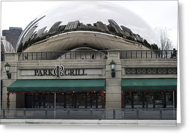 Park Grill Chicago Bean Greeting Card