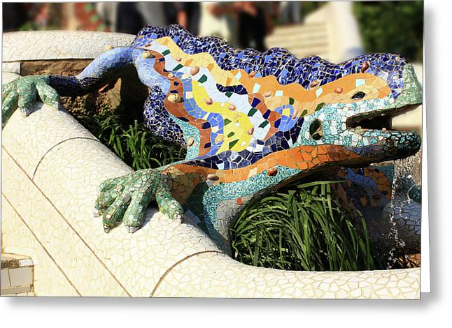 Park Guell Greeting Card by Rui Caldeira