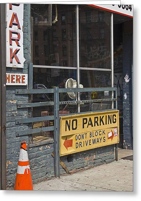 Park Here Greeting Card by Art Ferrier