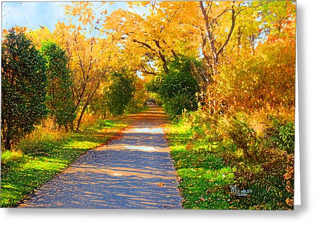 Park Path Greeting Card