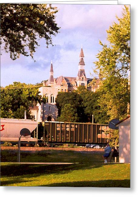 Greeting Card featuring the photograph Park University by Steve Karol