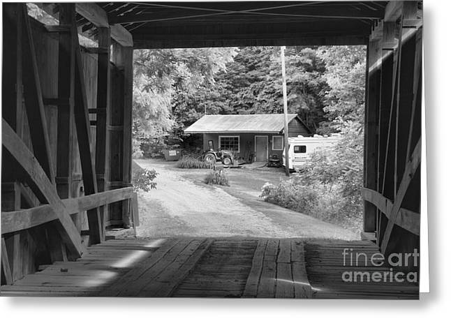 Parke County Homestead Black And White Greeting Card