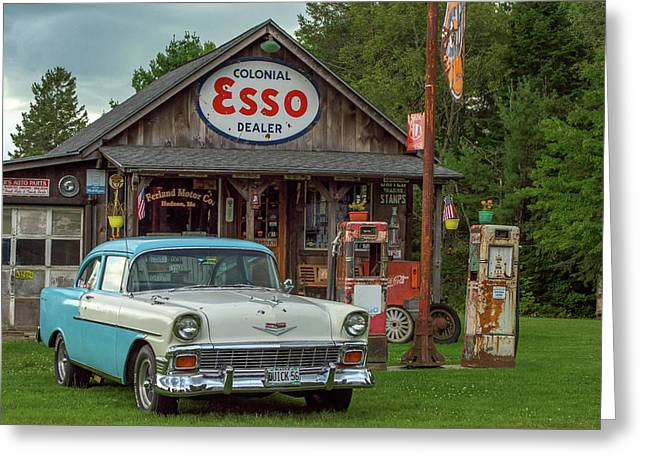 Parked At Ferland Motor Company Greeting Card