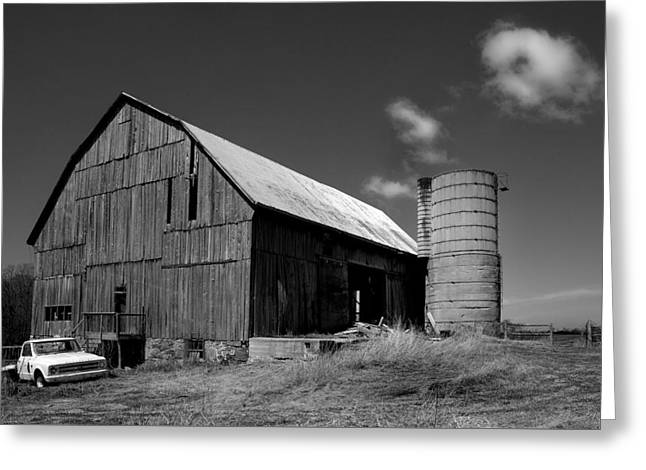 Parked By The Barn Greeting Card by Tim Kennedy