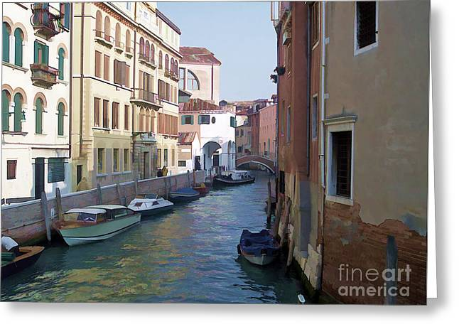 Greeting Card featuring the photograph Parked In Venice by Roberta Byram