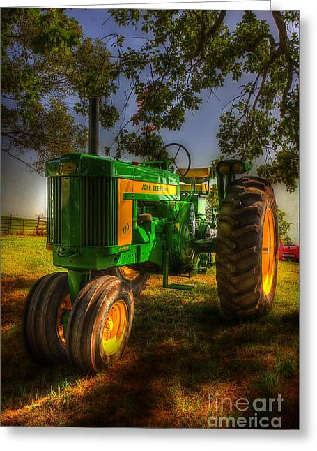 Parked John Deere Greeting Card by Michael Eingle