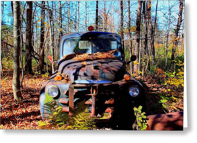 Parked Greeting Card by Tom Johnson