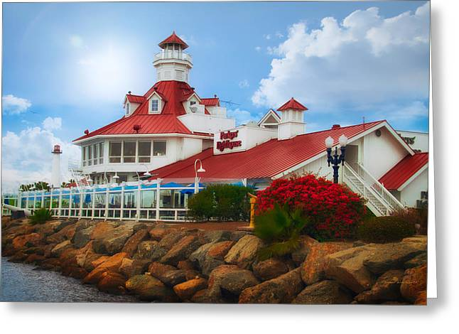 Parkers Lighthouse Restaurant Greeting Card