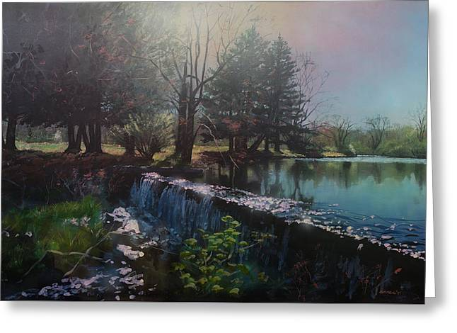 Parker's Pond In North Easton Ma Greeting Card by Bill McEntee