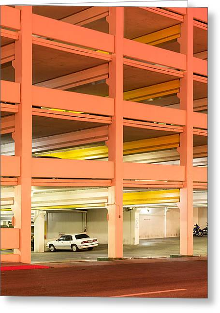 Parking Greeting Card by Christian Heeb