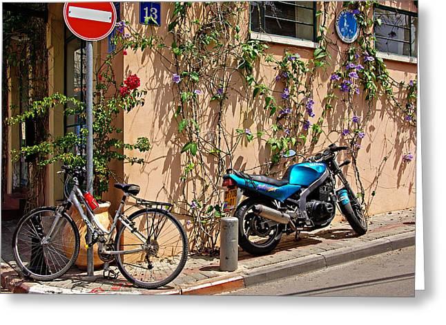 Parking Corner Greeting Card by Zalman Latzkovich