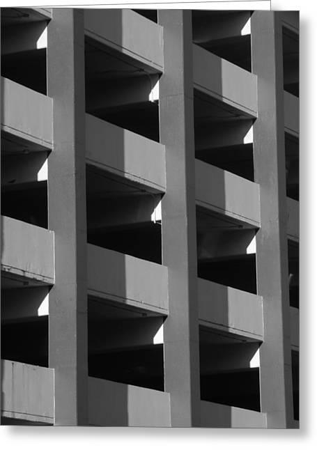 Parking Garage Milwaukee Abstract 2334 Greeting Card