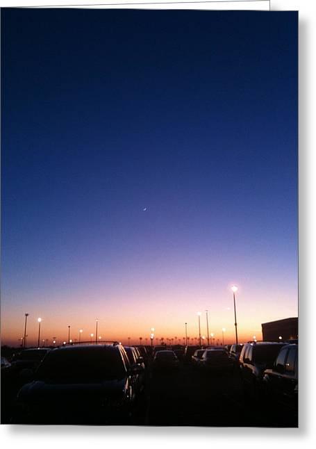Parking Lot Sunset Greeting Card by Jonathan Kotinek