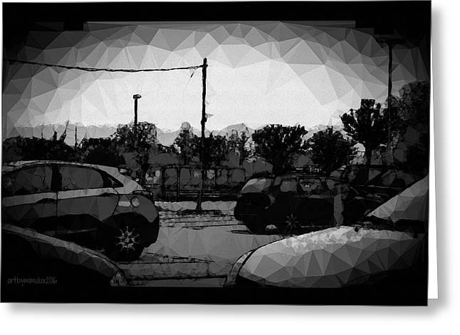 Greeting Card featuring the photograph Parking by Mimulux patricia no No