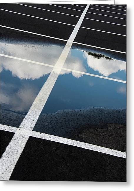 Parking Spaces For Clouds Greeting Card