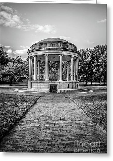 Parkman Bandstand Boston Common Black And White Photo Greeting Card