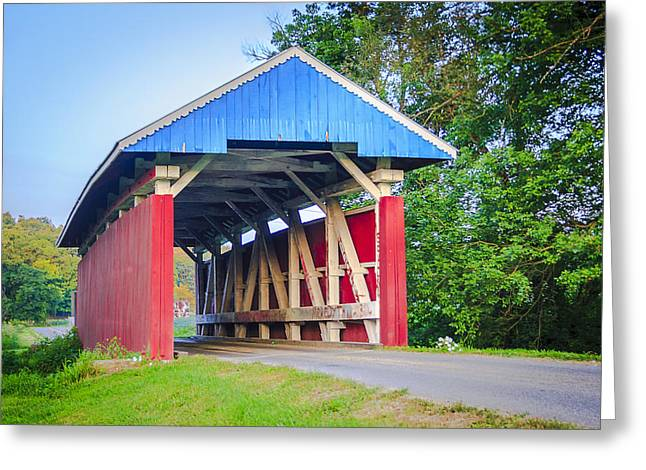 Parks/south Covered Bridge Greeting Card by Jack R Perry