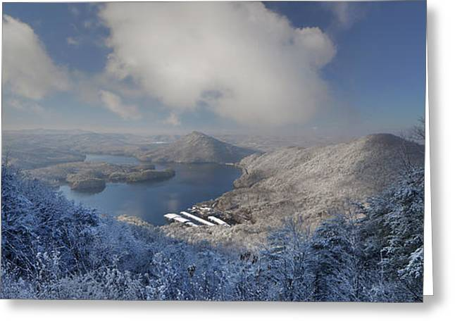 Parksville Lake Snowy Overlook Greeting Card