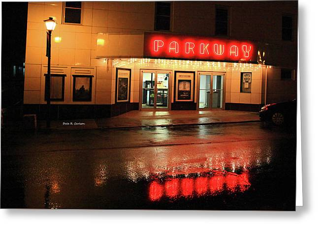 Parkway Night Greeting Card by Dale R Carlson