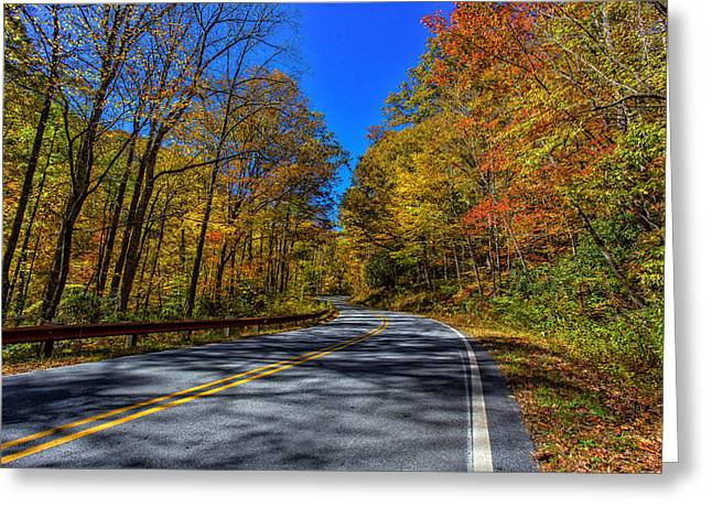 Parkway Road Nc Greeting Card by Gestalt Imagery