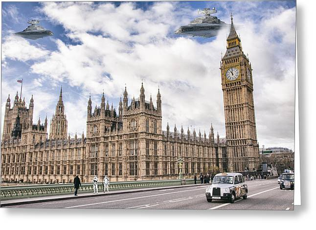 Parliament Occupation  Greeting Card by Geoff Coleman