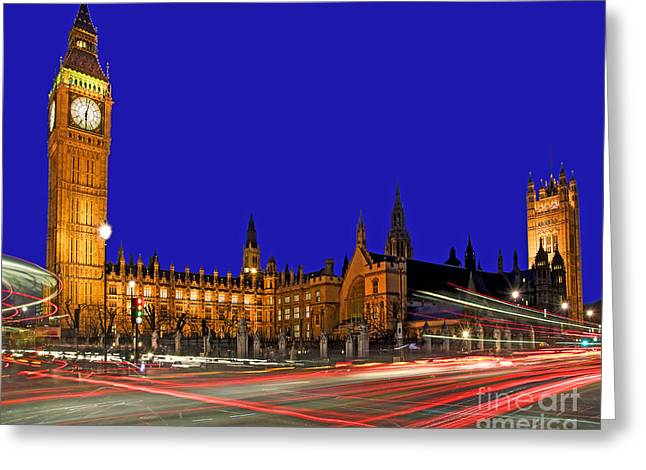 Parliament Square In London Greeting Card by Chris Smith