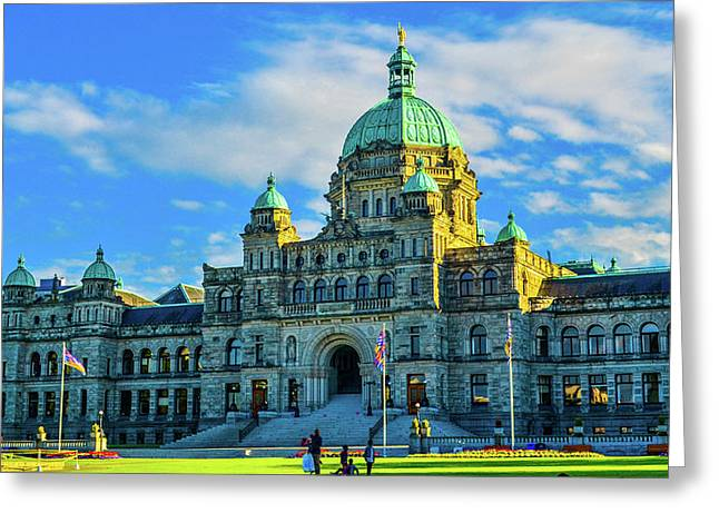 Parliament Victoria Bc Greeting Card