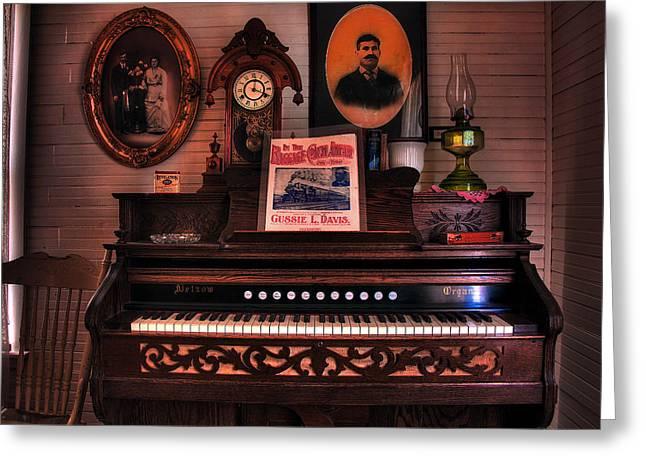 Parlor Organ Greeting Card by Mike Flynn