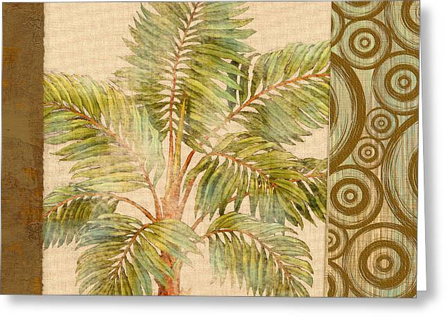 Parlor Palm II - Beige Greeting Card by Paul Brent