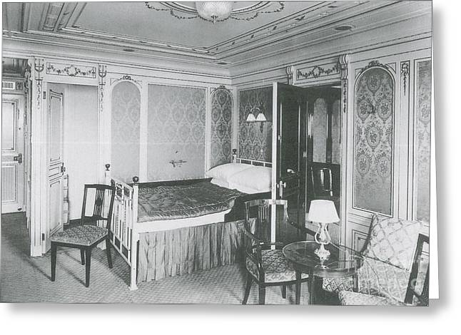 Parlour Suite Of Titanic Ship Greeting Card