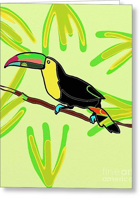Parrot Cuba  Greeting Card