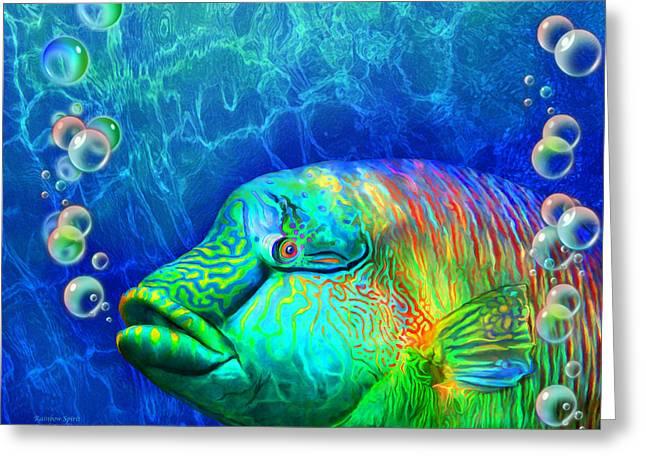 Parrotfish - Rainbow Spirit Greeting Card
