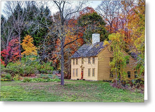 Parson Barnard House In Autumn Greeting Card