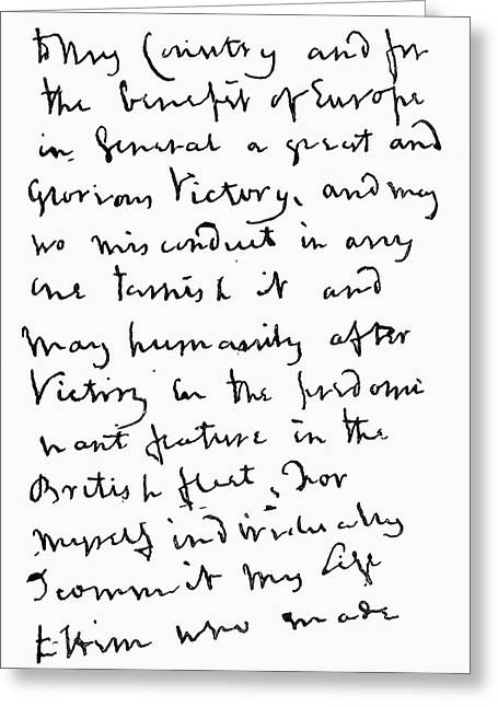 Part Of Letter Written By Admiral Greeting Card by Vintage Design Pics