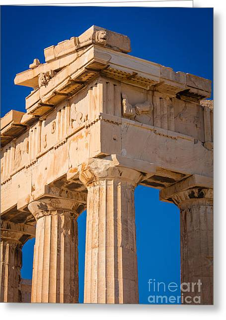 Parthenon Columns Greeting Card by Inge Johnsson