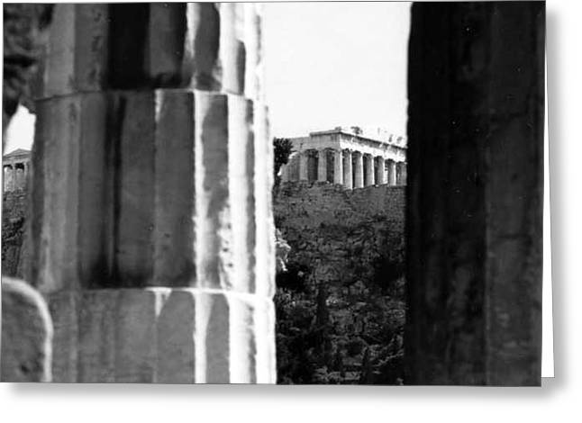 Parthenon From The Temple Of Hephaistos Athens Greeting Card by Susan Chandler