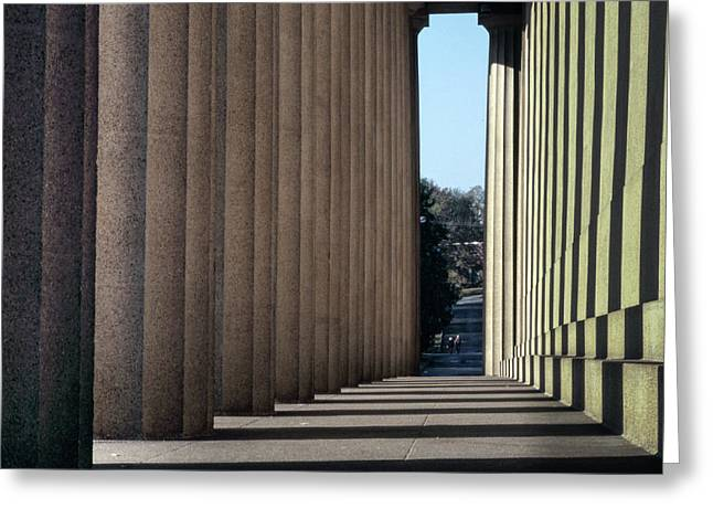 Parthenon Shadow Tunnel Greeting Card