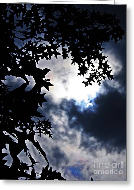 Partial Eclipse On Bennett Avenue  Greeting Card