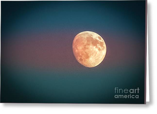 Partial Moon Greeting Card by Claudia M Photography