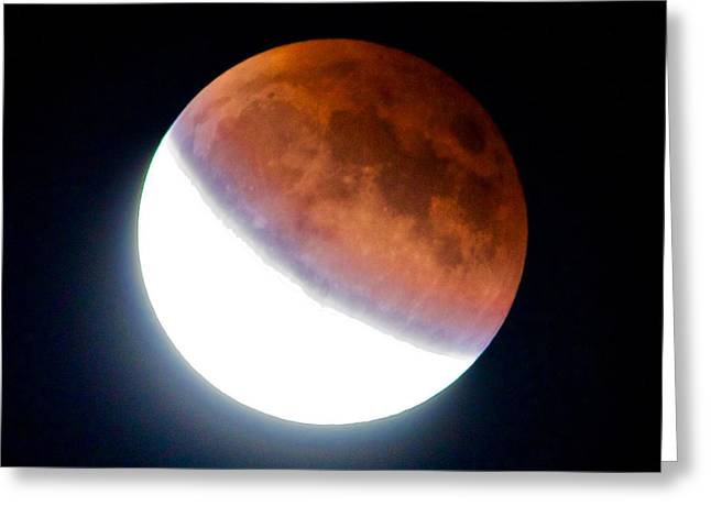 Greeting Card featuring the photograph Partial Super Moon Lunar Eclipse by Todd Kreuter